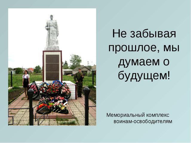 Не забывая прошлое, мы думаем о будущем! Мемориальный комплекс воинам-освобод...