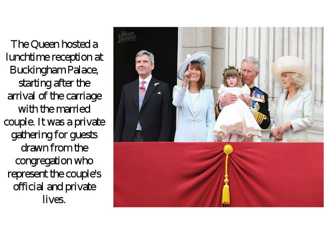 The Queen hosted a lunchtime reception at Buckingham Palace, starting after t...