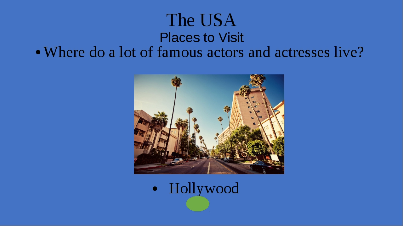 The USA Places to Visit What street associated with the world business? Wall...