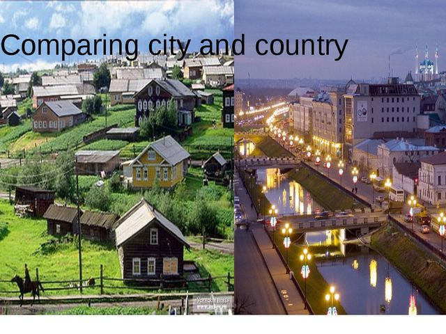 Comparing city and country