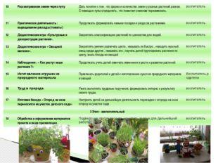 10 Рассматривание семян через лупу Дать понятие о том , что форма и количеств