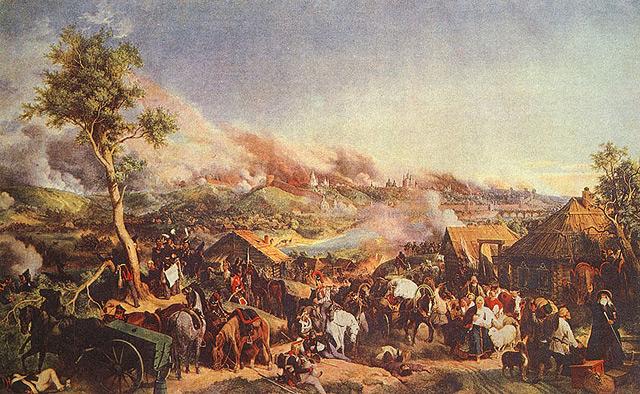 Описание: сражение под смоленском 5 августа 1812 г