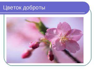 Цветок доброты