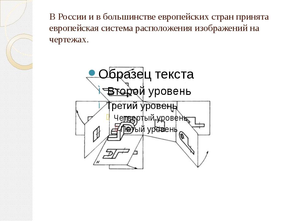 В России и в большинстве европейских стран принята европейская система распол...