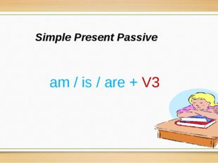 Simple Present Passive am / is / are + V3