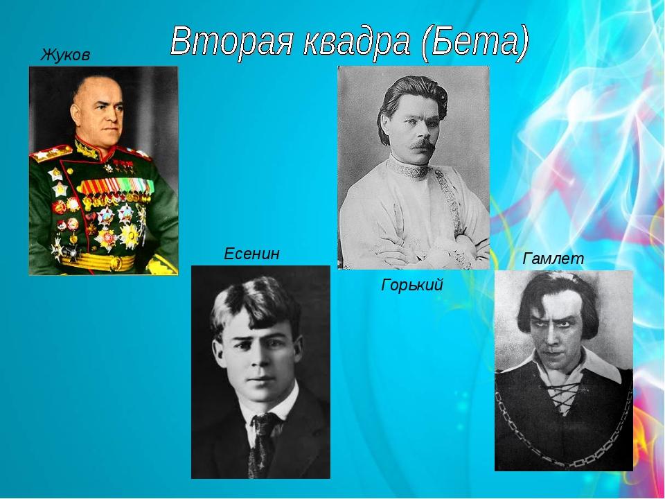 Жуков Есенин Горький Гамлет