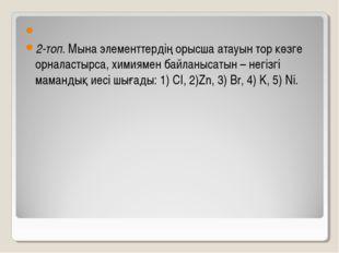 2-топ. Мына элементтердің орысша атауын тор көзге орналастырса, химиямен ба