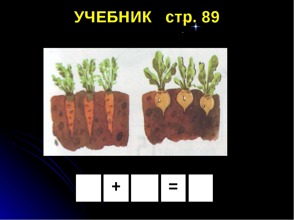 = + УЧЕБНИК стр. 89