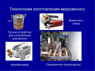 Технологии изготовления мороженого. Ручное устройство для изготовления мороже
