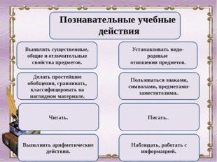 Познавательные учебные действия Выявлять существенные, общие и отличительные