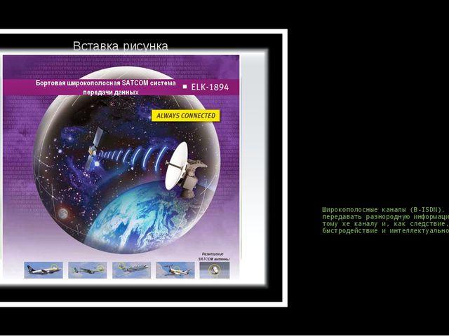 Широкополосные каналы (В-ISDN), позволяющие передавать разнородную информацию...