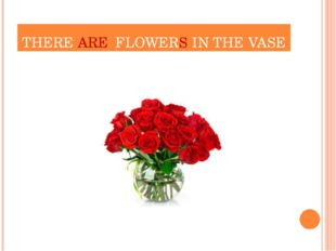 THERE ARE FLOWERS IN THE VASE