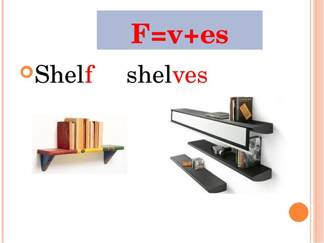 F=v+es Shelfshelves