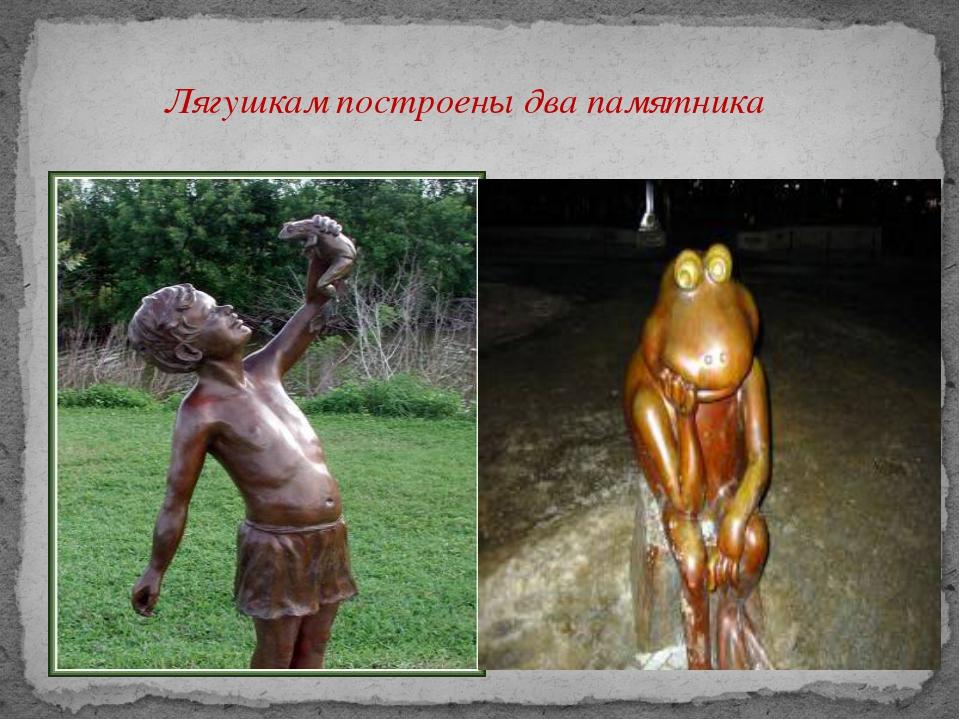 Лягушкам построены два памятника