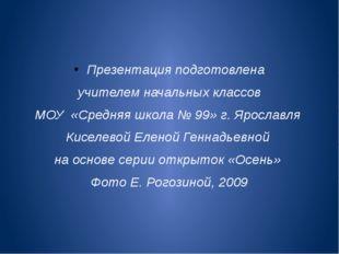 Презентация подготовлена учителем начальных классов МОУ «Средняя школа № 99»