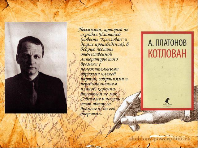 """Пессимизм, который не скрывал Платонов (повесть """"Котлован"""" и другие произвед..."""