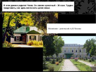 В этом домике родился Чехов. Он совсем крохотный - 36 кв.м. Трудно представи