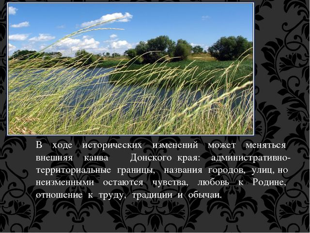 В ходе исторических изменений может меняться внешняя канва Донского края: адм...