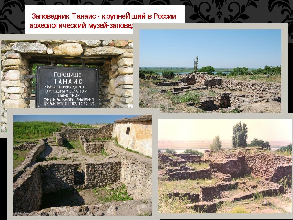 Заповедник Танаис - крупнеЙший в России археологический музей-заповедник.