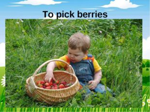 To pick berries