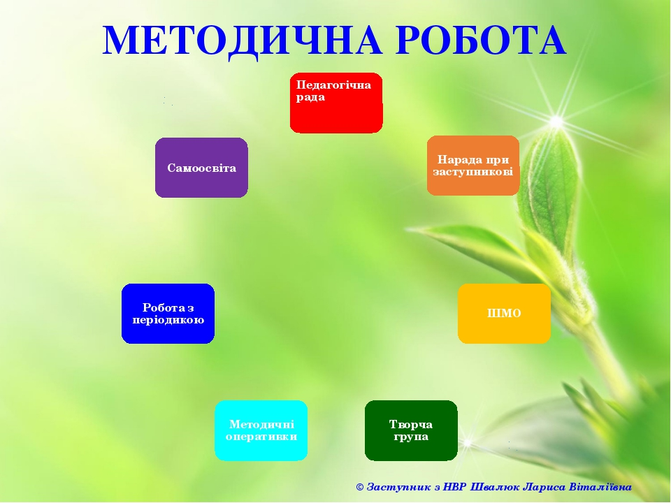 МЕТОДИЧНА РОБОТА © Заступник з НВР Швалюк Лариса Віталіївна