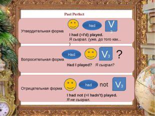 Утвердительная форма Вопросительная форма Отрицательная форма V3 V3 V3 ? not