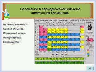 Положение в периодической системе химических элементов. Название элемента – С