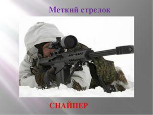 Меткий стрелок СНАЙПЕР