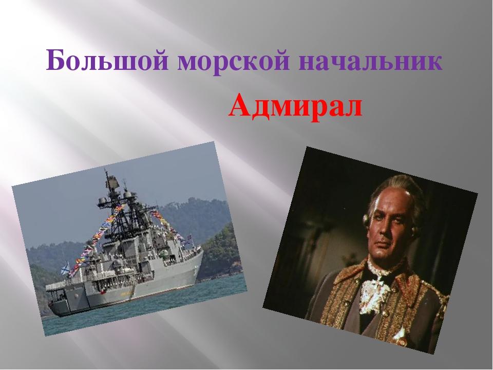 Большой морской начальник Адмирал