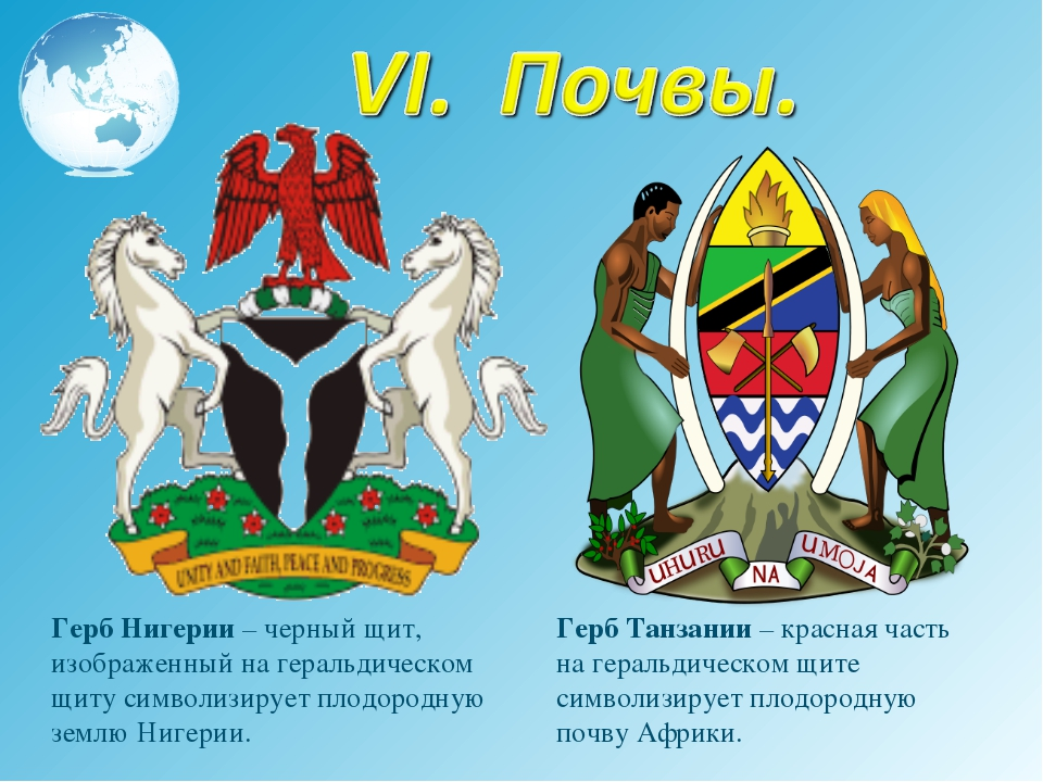 Герб Нигерии – черный щит, изображенный на геральдическом щиту символизирует...