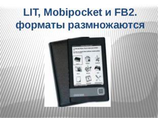 LIT, Mobipocket и FB2. форматы размножаются