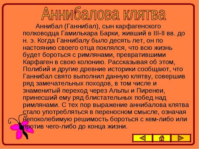 Аннибал (Ганнибал), сын карфагенского полководца Гамилькара Барки, живший в...