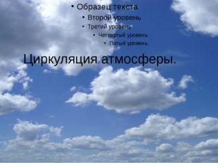 Циркуляция атмосферы.