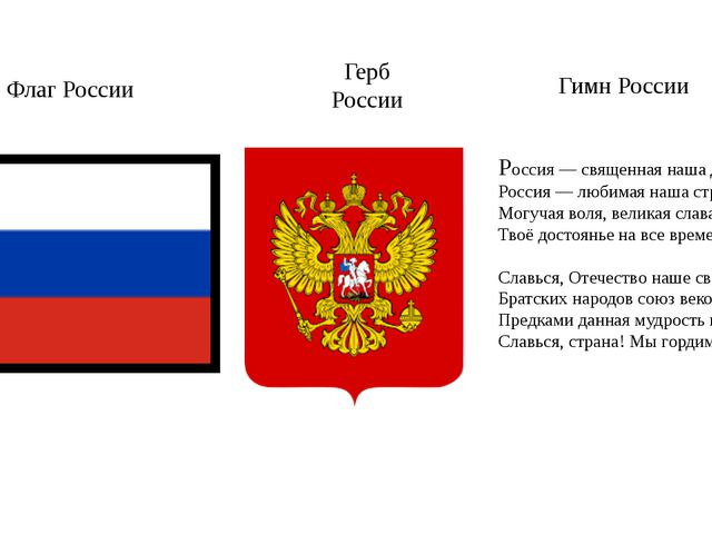 Россия — священная наша держава, Россия — любимая наша страна. Могучая воля...