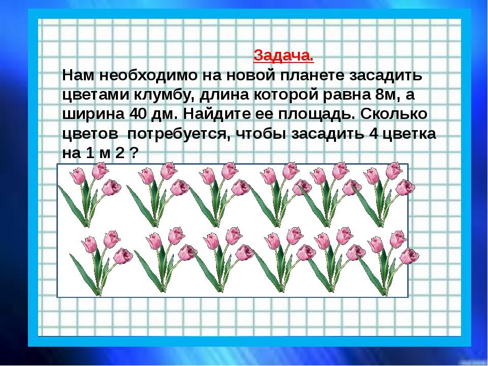 Задача. Нам необходимо на новой планете засадить цветами клумбу, длина котор...
