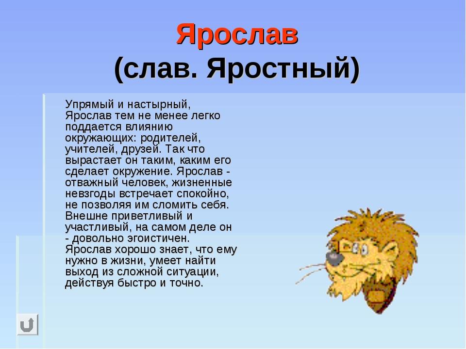 Ярослав (слав. Яростный) Упрямый и настырный, Ярослав тем не менее легко под...