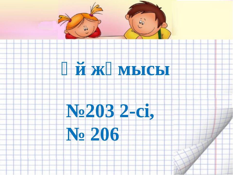 Үй жұмысы №203 2-сі, № 206
