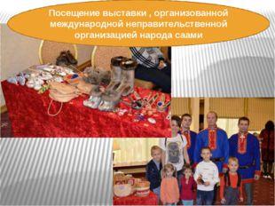 Посещение выставки , организованной международной неправительственной организ