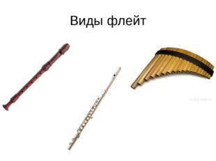 Виды флейт