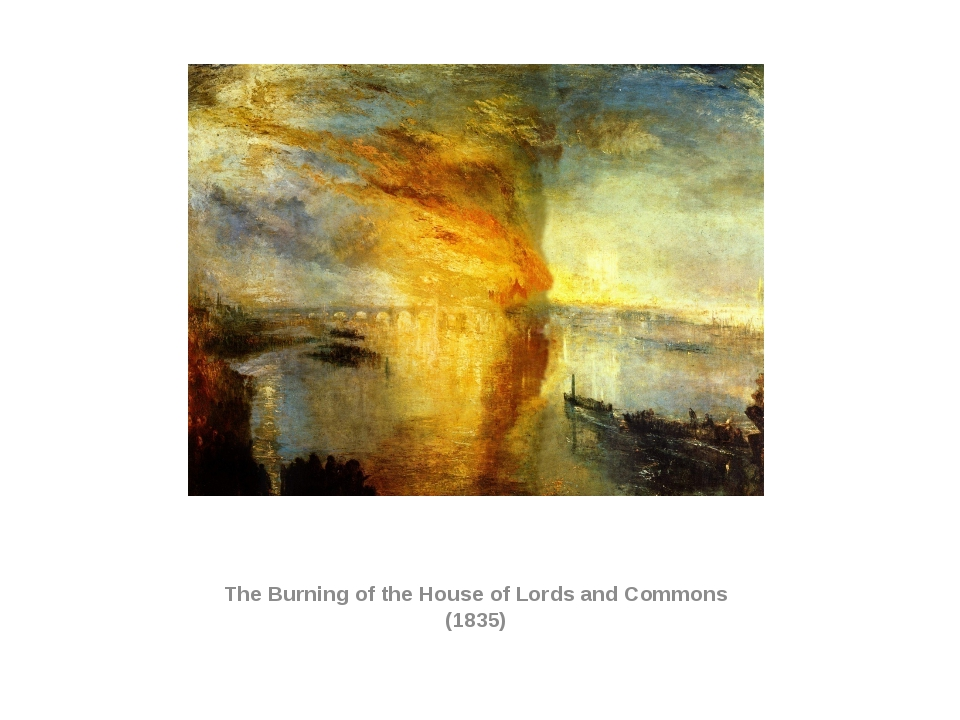The Burning of the House of Lords and Commons (1835)