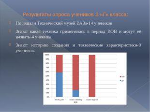 Результаты опроса учеников 3 «Г» класса: Результаты опроса учеников 3 «Г» кл