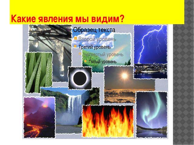 Какие явления мы видим?