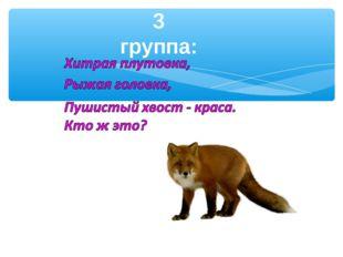 3 группа: