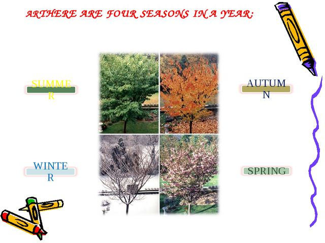 ARTHERE ARE FOUR SEASONS IN A YEAR: E FOUR SEASONS IN A YEAR :