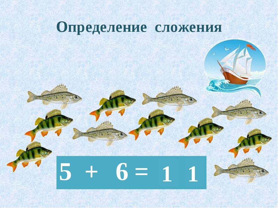 Определение сложения 1 1 5+ 6=