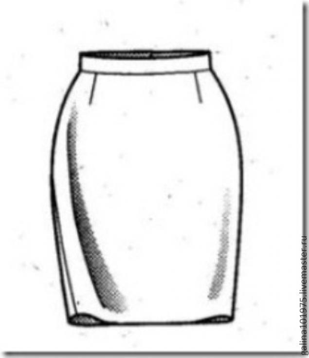 Рисунки юбок прямые