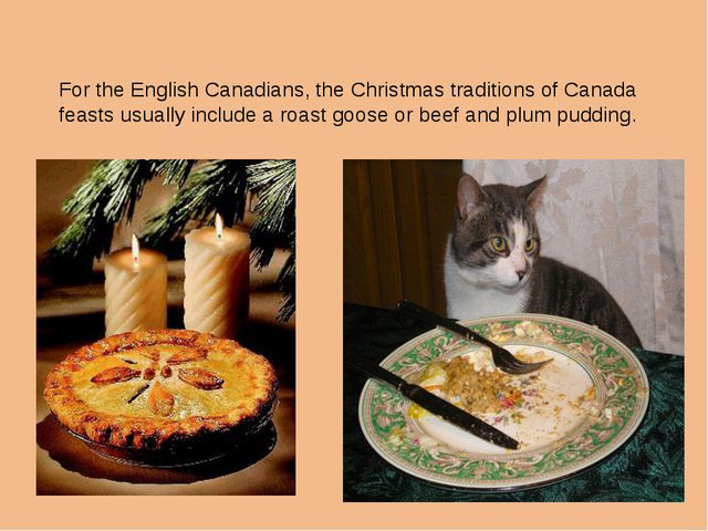 For the English Canadians, the Christmas traditions of Canada feasts usually...