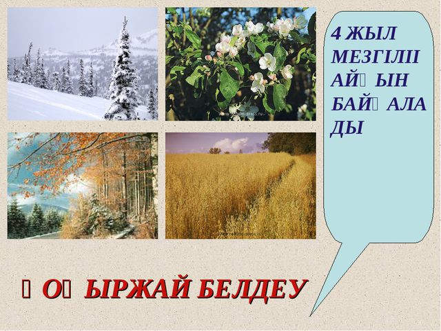ҚОҢЫРЖАЙ БЕЛДЕУ 4 ЖЫЛ МЕЗГІЛІІ АЙҚЫН БАЙҚАЛАДЫ