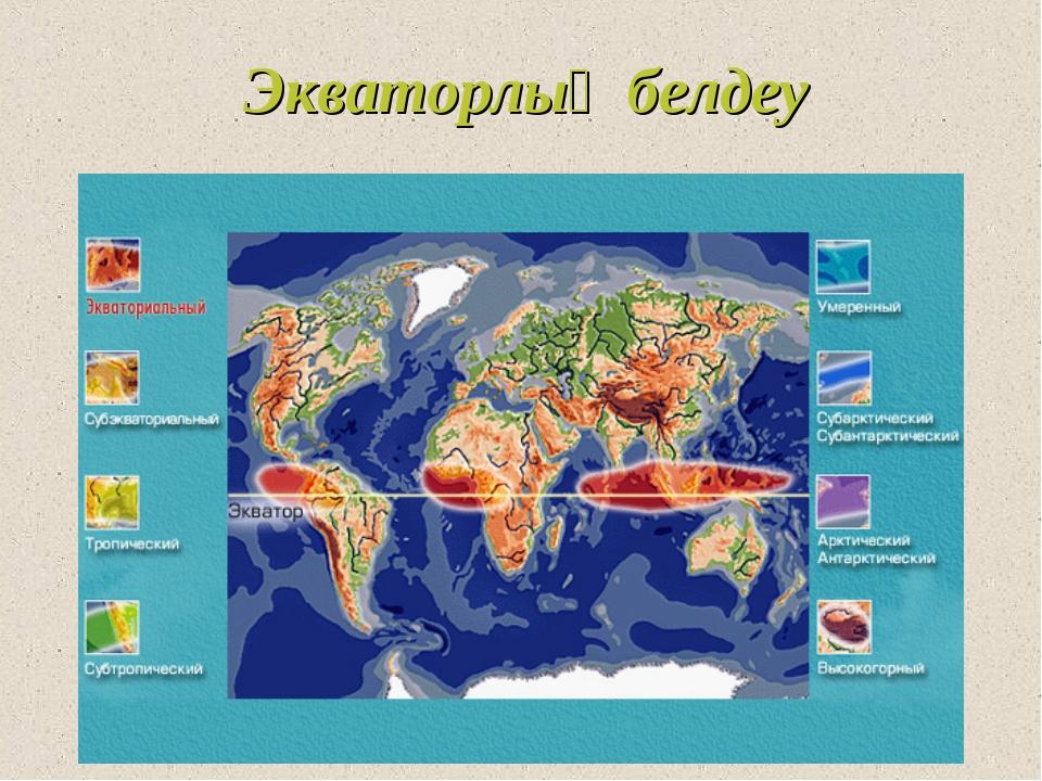 Экваторлық белдеу