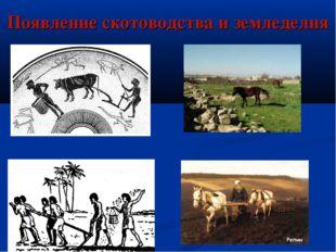 Появление скотоводства и земледелия